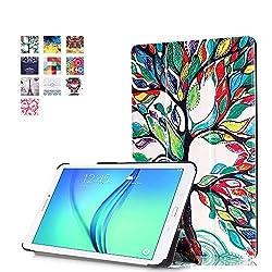 Tab E 9.6 Case, Pasonomi Ultra Slim Lightweight PU Leather Folio Case Stand Cover for Samsung Tab E / Tab E Nook 9.6-Inch Tablet (SM-T560 / T561 / T565 & SM-T567V Verizon 4G LTE Version) ,Tree