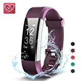 Fitness Tracker,KEDA Activity Tracker Watch Smartband Sport Wristband With Heart Rate Monitor,IP67 Waterproof Smart Bracelet With Pedometer Calorie Counter For IOS & Android Smartphone (Purple)