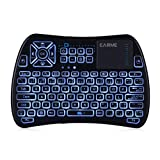 Mini Keyboard with IR Learning Function,Wireless Backlit Keyboard with Touchpad Mouse Combo Infrared Remote Control for Xbox,Android TV Box,Laptop,Desktop,iPazzPort KP - 810-61 (Color: Kp-810-61 Black)