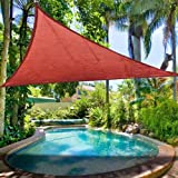 Sun Shade Sail for Patio or Pool 11.5' Triangle in Multiple Colors (Clay Pot Color)
