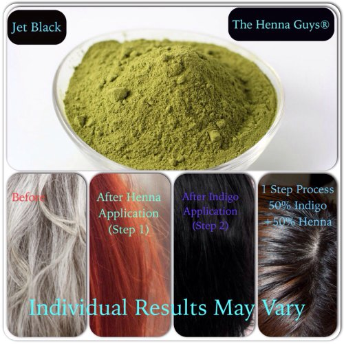 Jet Black Henna Hair Dye 200 Grams (2 Step Process)