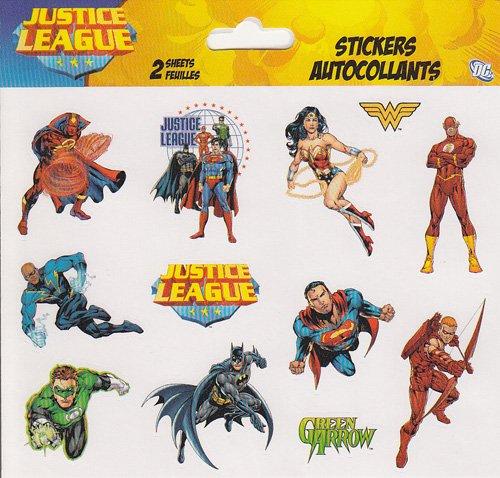 DCコミックス Justice League (ジャスティスリーグ) 両面ステッカーシート