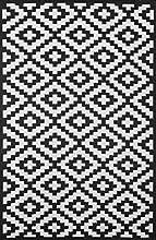 Green decore 120 x 180 cm nirvana intérieur/extérieur/léger/ tapis ecologique réversible, noir/ blanc