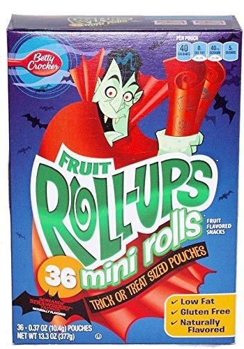 Crocker Fruit Roll-ups Mini Rolls Screamin' Strawberry Tattoos Fruit ...