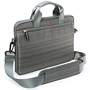 """Evecase 11.6"""" to 12.5"""" Laptop Classic Suit Fabric Shoulder Bag Carry Case Briefcase for Acer Apple Asus Dell HP Lenovo Samsung Toshiba Laptop Notebook Chromebook Ultrabook MacBook Air - Grey from Evecase"""