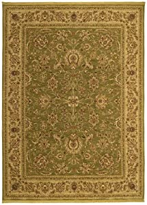 Shaw Living Renaissance 1-Foot 10-Inch by 3-Foot Rug in Monaco Pattern, Light Green