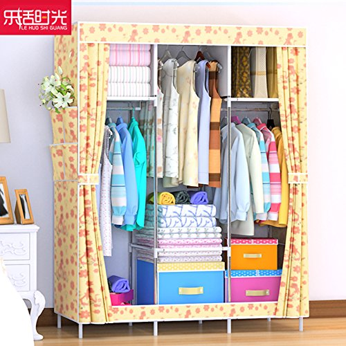 Vêtements pliable armoire placards tige Double Non-tissé en organisateur de stockage UN??2651