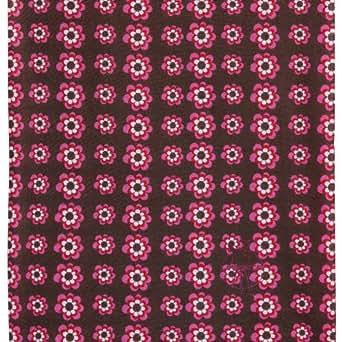 TWISTER Foulard multifonctionnel pour enfants FLOWERS PINK CHOCO