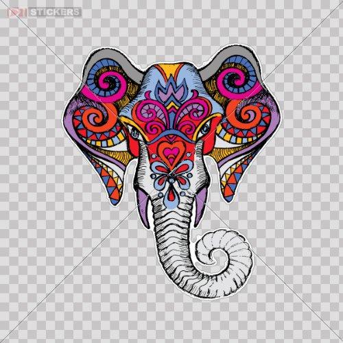 "Elephant Oval car window bumper sticker decal 5/"" x 3/"""
