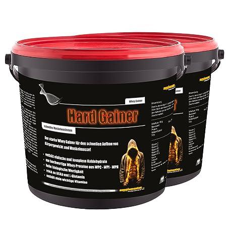 NEU! Hard Gainer Himbeere 2x3000g - Extreme Whey Gainer Wettkampfprotein Kohlenhydrate Eiweiß Masse und extremer Muskelaufbau