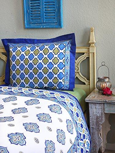 Casablanca (C) ~ Moroccan Style White Quatrefoil Pillow Cover 25X31 front-873517