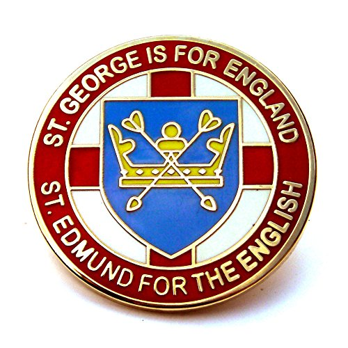 st-edmund-for-the-english-lapel-badge-red-england-anglo-saxon-uk-seller