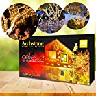 ArchstoneTM Celeste LED Solar Powered Christmas Fairy Lights, 40ft (12m), Decorate your Home, Patio, Garden, Trees, Shrubs, Decks, Porches, Parties. White Heavenly Lights, Waterproof, Recharges in Daytime, Shines Bright at Night!