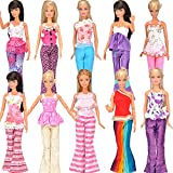 Toy - Yiding 5 Sets=10 Items=5 Clothes Outfit 5 Trousers Pants for Barbie Doll Random Style