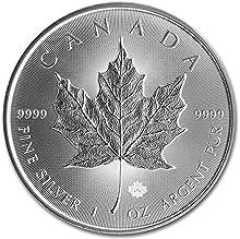 Moneda canadiense de plata con hoja de arce, 2016