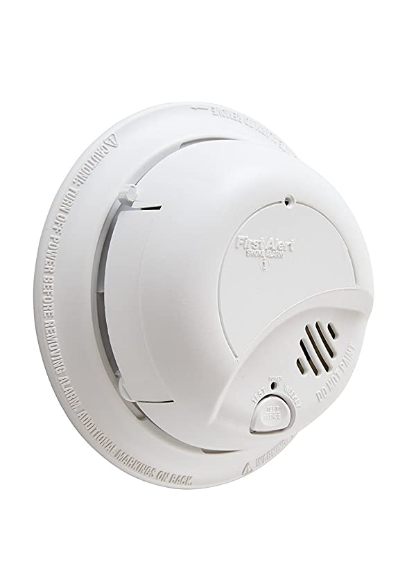 First Alert BRK 9120B-12 Hardwired Smoke Alarm with Backup Battery, 12-Pack (Color: White, Tamaño: 12 Pack)