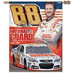 Dale Earnhardt Jr #88 2014 Official NASCAR 27x27 Banner Flag by Wincraft by WinCraft