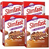 SlimFast Meal Bar Chocolate Peanut (4x Box of 4, Total 16 Bars)