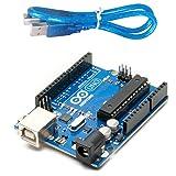 Devbattles | Arduino Uno R3 - Microcontroller Board Based on ATmega328 Original & USB cable