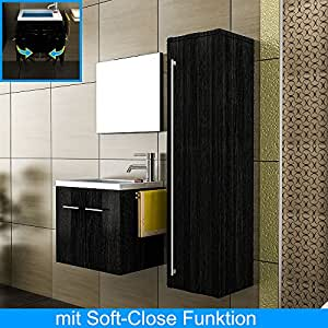 m bel f r s g ste wc design badm bel mit spiegel minimo 500 schwarz badm bel. Black Bedroom Furniture Sets. Home Design Ideas