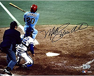 "Mike Schmidt Philadelphia Phillies Autographed 8"" x 10"" 1980 World Series Home Run Photograph - Fanatics Authentic Certified"