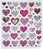 Multi-Colored Stickers-Pink Hearts