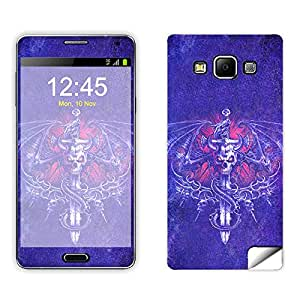 Skintice Designer Mobile Skin Sticker for Samsung Galaxy A5, Design - Winged Skull