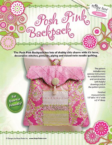Posh Pink Backpack Pattern