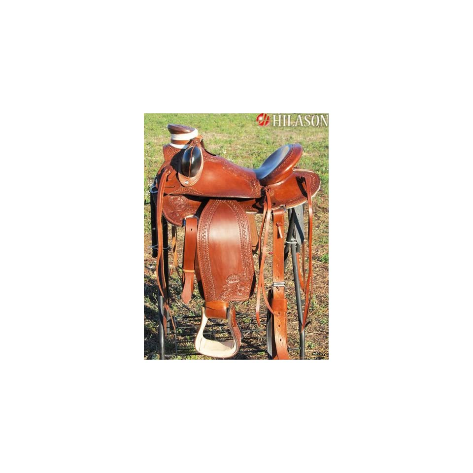 Hilason Big King Western Wade Ranch Roping Saddle Hand
