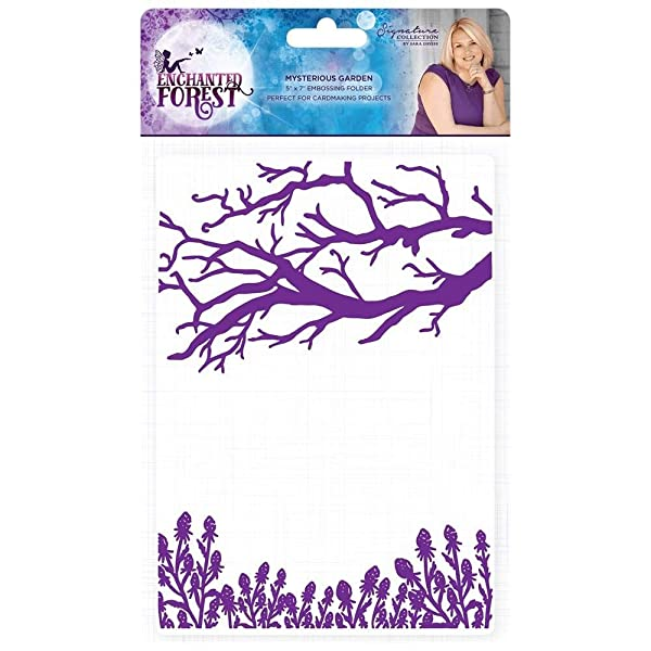 Sara Davies Enchanted Forest Collection Embossing Folder - Mysterious Garden