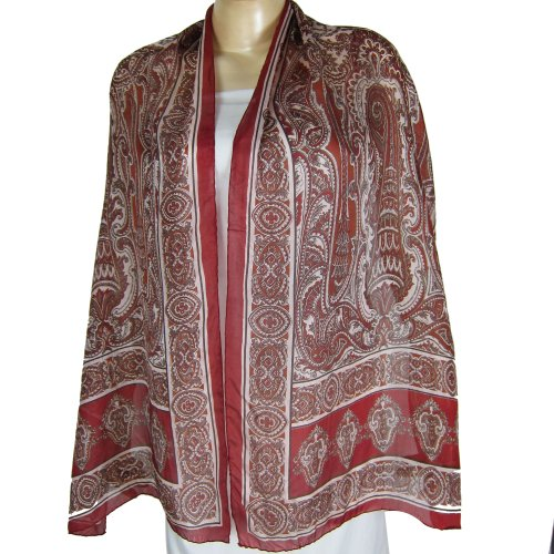 SilkScarfs WomenPrinted Rectangular 55 x 182 cm