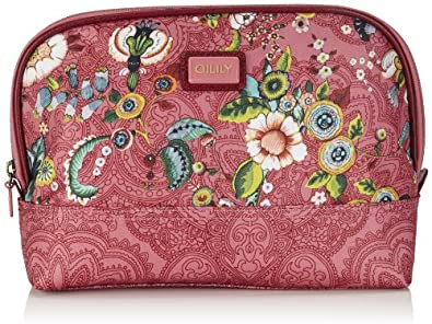 Oilily Womens French Flowers M Toiletry Bag Pink Cosmetic bag Pink Pink (pink 402) Size: 25x17x9 cm (B x H x T)