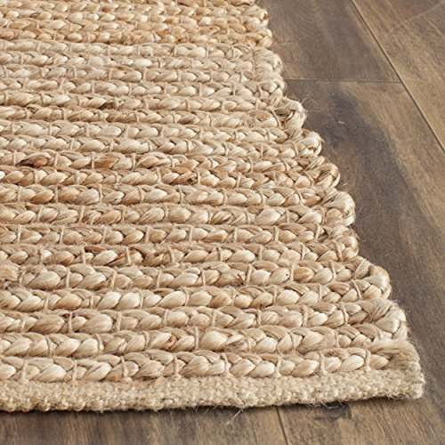 Safavieh Cape Cod Collection CAP355A Hand Woven Natural Cotton Area Rug, 6 feet by 9 feet (6' x 9')