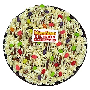 NomNom Delights Jelly Bean Chocolate Lovers Popcorn Pizza - Unique Gourmet Gift & Easter Candy (Jelly Bean)