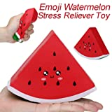 Squishi Jumbo Emoji Watermelon Slow Rising Cream Scented Stress Relief Toys Kids Gift Party Decorative Props (Red, 15x12x4cm/5.91x4.72x1.57inch) (Color: Red, Tamaño: 15x12x4cm/5.91x4.72x1.57inch)