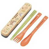 Skater Totoro Flower quiet chopsticks,fork and spoon set TAC1 from Japan (Color: biue)