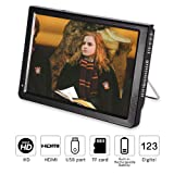 10 inch Portable Digital Television, Small 16:9 ATSC 1080P HD HDMI Video Player TFT LED TV Built-in Rechargeable Battery Support USB and TF Card for Car, Caravan, Camping, Outdoor or Kitchen (Color: 10 in, Tamaño: 10