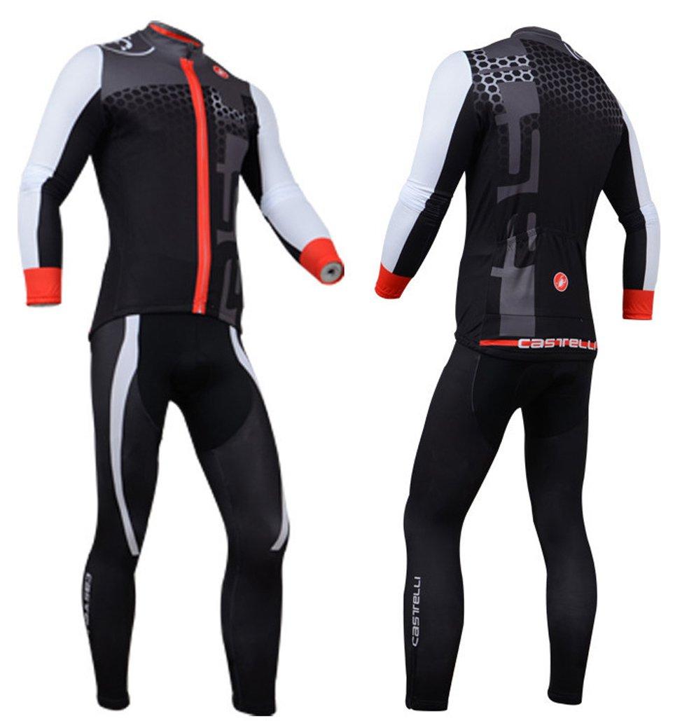 Equipación de maillot y pantalón largo de ciclismo