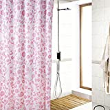 D-Home Printed Pink Floret Pattern ,Bathroom Mildew Proof Polyester Fabric 72inchx78inch/180cmx200cm(w*h) Shower Curtain.