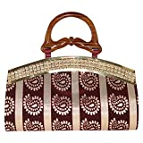 Glitter Collection Women's Maroon Handbag HSR001
