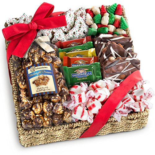 Golden State Fruit Holiday Classic Chocolate, Candy & Crunch Gift Basket (Fruit Crunch compare prices)