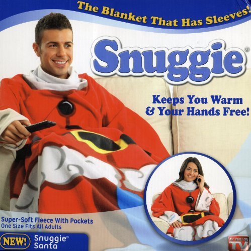 Snuggie - Santa Print - The Blanket That Has Sleeves!