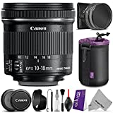 Canon EF-S 10-18mm f 4.5-5.6 IS STM Wide Angle Lens w Essential Bundle - Includes: Altura Photo UV-CPL-ND4 - Dedicated Lens Hood - Neoprene Lens Pouch - Camera Cleaning Set