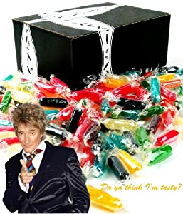 Assorted Rods Hard Candy, 1lb Bag in a Gift Box