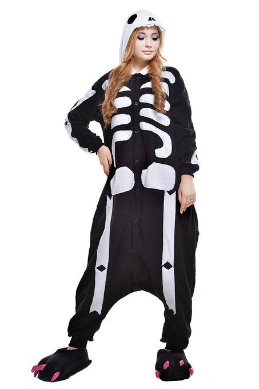 Skeleton Halloween Unisex Adult Pyjamas Kigurumi Costume
