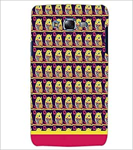 PrintDhaba Owl Pattern D-1648 Back Case Cover for SAMSUNG GALAXY ON 5 (Multi-Coloured)