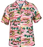 Mens Boys TrueFace Hawaiian Short Sleeve Summer Beach Printed Shirts S - 5XL Generous Fit