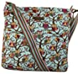 Kirsty Owl Print Slouchy Shoulder Bag in Light blue