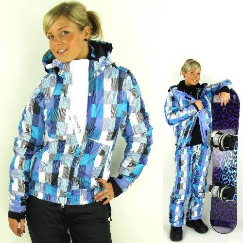 Brunotti Damen Skijacke Snowboardjacke Jense Schneefang blau lila türkis Gr.XS