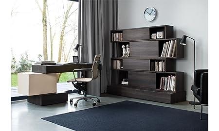 Buroeinrichtung komplett Buromöbel Set PHANTASY Arbeitszimmer 5-teilig Schreibtisch Regal TV-Schrank